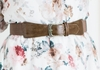 Spandex Belt in Taupe