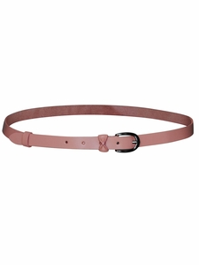 Thin Leather Belt in Mauve