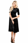 """Vixen"" Modest Dress in Black Velvet"