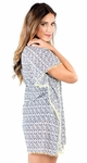 """Window Shopping Dress"" Modest Swim Cover-Up in Navy Print *Final Sale*"