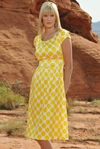 """Zoe"" Modest Dress in Yellow Dots"