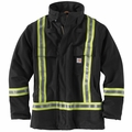 Carhartt Flame-Resistant Striped Duck Traditional Coat - Quilt Lined