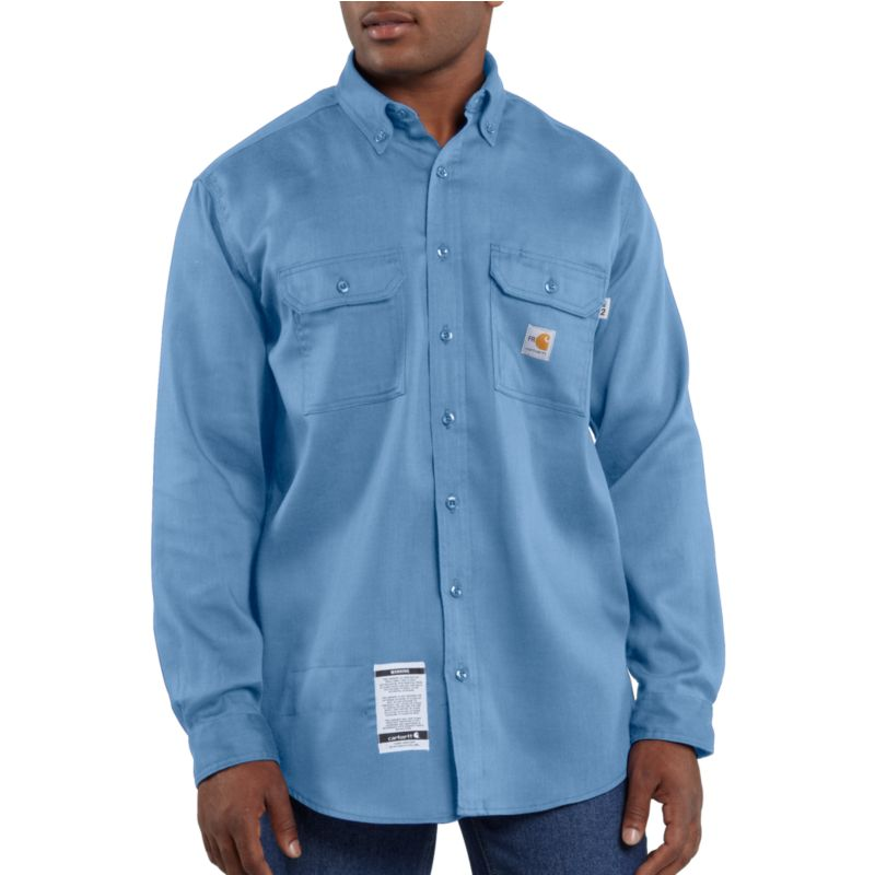 Carhartt frs003 flame resistant work dry lightweight twill for Flame resistant work shirts