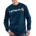 Carhartt K298 Signature Logo Long-Sleeve T-Shirt