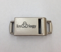 """Knottology 1/2"""" Metal Side Release Buckle Silver - """"Banshee"""" Whistle"""