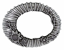 100555 Antique Flower Oval Belt Buckle
