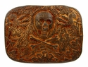 HA2344 Old Copper Skull Punk Belt Buckle