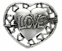 100634 Love Heart With Arrow Belt Buckle Made In Italy Belt Buckle