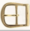 9946-3 Polished Solid Brass Belt Buckle 1 1/4""