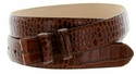 "Alligator Grain 1 1/8"" (30mm) wide belt strap - Brown"