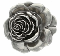 Antique Silver Rose Belt Buckle C1453