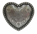 Berry Border Western Floral Engraved Heart belt Buckle