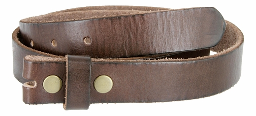 "BS100 Vintage Full Grain Leather Belt Strap 1-1/8"" Wide-Brown"