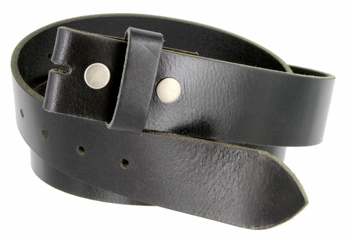 "BS103 Genuine Full Grain Vintage Leather Belt Strap 1-1/2"" Wide Black"