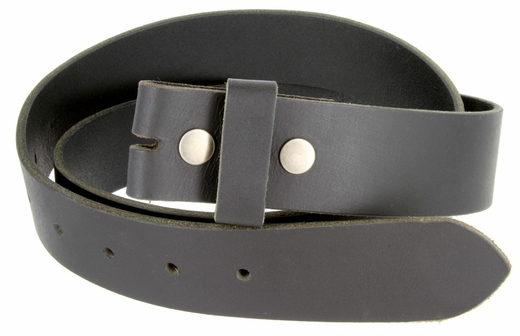 "BS1300 Black Belt Strap Buffalo Full Grain Leather 1-1/2"" Wide"