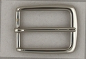 BS3208 Nickle-Plated Solid Brass Heel Bar Belt Buckle-1-1/8""