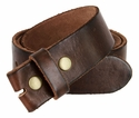"BS40 Vintage Full Grain Cowhide Leather Belt Strap 1 1/2""- Brown"