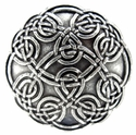 "BS9165 SRTP 1 1/8"" ANTIQUE SILVER SCREWBACK CELTIC CONCHO"