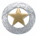 "BS9240 SPGP 3/4"" Ranger Star CONCHOS Bright Silver & Gold"