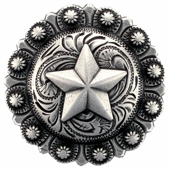 "BS9264-2 SRTP 1 1/4"" Star Berry Concho"