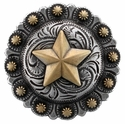"BS9264-4 SRTPGP 1 3/4"" Star Berry Western Concho"