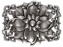 110127 Celtic Flower Belt Buckle