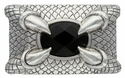100225 Eagle Claw Jet Stone Belt Buckle