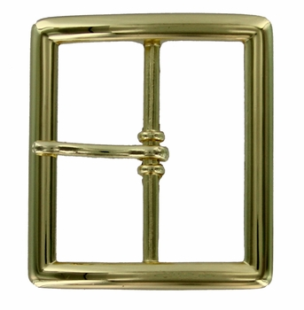 "FCB-7Shiny Gold Belt Buckle 1-3/4"" (45mm) wide"