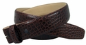 "Genuine Italian Calf Skin Crocodile Embossed Strap 1 3/8"" - Brown"