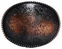 H8136 SCVRB Western Floral Engraved Copper Belt buckle