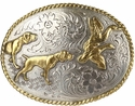 Hunting Dogs Western Cowboy Belt Buckle