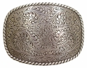 HA0359 LASRP Western Engraved Rope Edge Belt Buckle