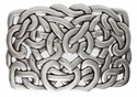 Silver Heart Links Belt Buckle Made in Italy