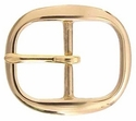 Oval Centerbar Solid Brass Belt Buckles