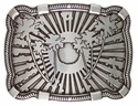 100107 Palm Tree Sun Belt Buckle