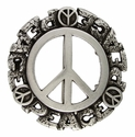 HA1548-1 Peace Sign Belt Buckle