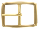 "S002B 1 1/2"" Solid Brass Belt Buckle"