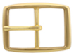 "S002B 1 1/4"" Solid Brass Belt Buckle"