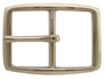 "S002B NP 1 1/4"" Solid Brass Polished Nickle Finish Belt Buckle"