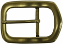 "Solid Brass Polygon Buckle 1 1/2"" Wide"