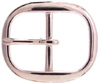 TV-718-2 Brass Polished Nickle Finish Belt Buckle 1""