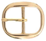 TV-718-2 Solid Brass Belt Buckle 1""