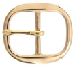TV-718-4 Solid Brass Belt Buckle 1 1/2""