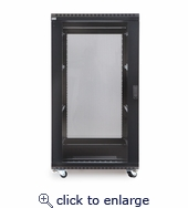 22U LINIER Server Cabinet - Glass/Solid Doors - 36