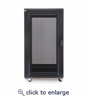 22U LINIER Server Cabinet - Solid/Convex Doors - 24