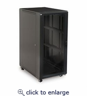 27U LINIER Server Cabinet Glass Solid Doors 36in Depth