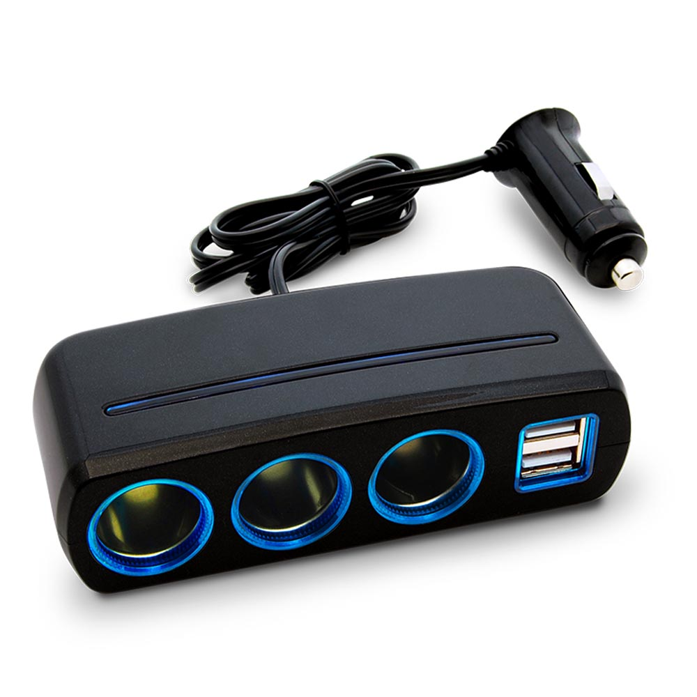 3 Socket Cigarette Lighter Car Power Adapter With 2 Usb Charging Kvm 4 Ports 3usb Vga Svga Switch Box Hub Connector Keyboard Mouse Monitor 31a