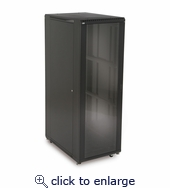 37U LINIER Server Cabinet - Glass/Glass Doors - 36
