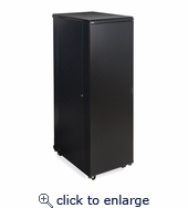 37U LINIER Server Cabinet - Solid/Convex Doors - 36