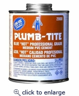 Blue Plumb-Tite Cement 1/4 PT